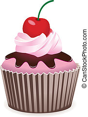 cupcake with cherry