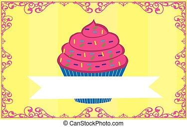 cupcake with flag