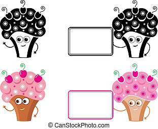 Cupcake with message. Icon