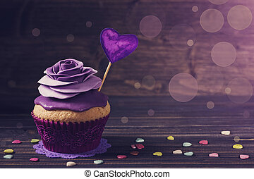 Cupcake with rose