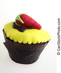 Cupcake with strawberry
