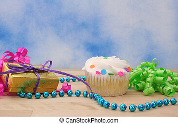 cupcake, y, regalo