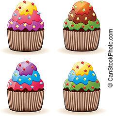 cupcakes, カラフルである