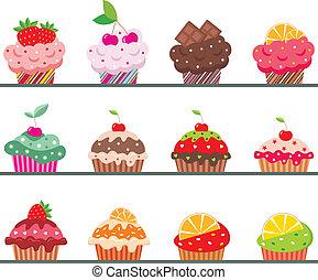 cupcakes, 上, a, 團