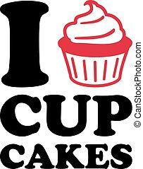 cupcakes, 愛, アイコン