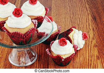 cupcakes, 日, バレンタイン