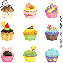 Cupcakes - A vector illustration of different cupcakes...