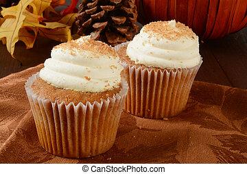 cupcakes, abóbora