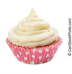cupcakes, aislado, en, un, fondo blanco