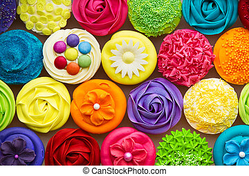 Cupcakes - Array of colorful cupcakes