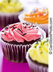 Cupcakes - Close up photograph of tiny colorful cupcakes