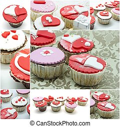 cupcakes, collage