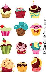 Cupcakes - Colorful cupcake set
