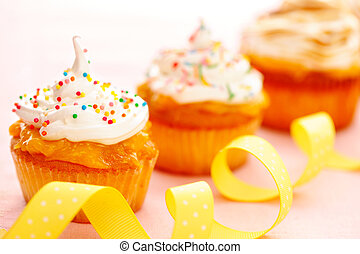 cupcakes, crema batida