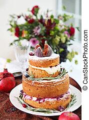 cupcakes, f, desszert, buli., frissesség, asztal, ombre, torta
