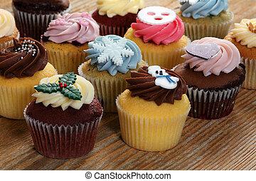 cupcakes, helyett, a, ünnepek