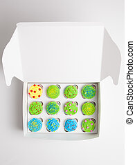 Cupcakes in a white box