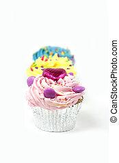 cupcakes on white