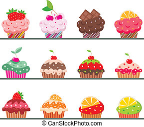 cupcakes, op, een, regiment
