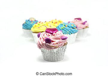 cupcakes, op wit