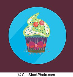 Cupcakes Pastry Shop Logo - Vanilla Cupcakes with Sprinkles...