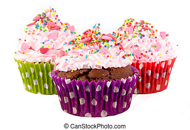 Cupcakes - Decorative use for party theme, studio lighting