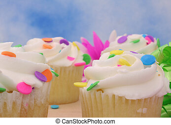 cupcakes, primer plano