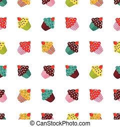 Cupcakes seamless pattern.