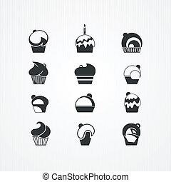cupcakes, set.