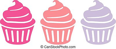 cupcakes, triple, fila
