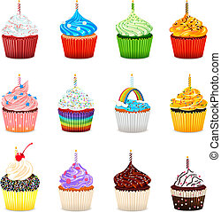 Cupcakes Vector Illustration Collec - Vector Illustration Of...