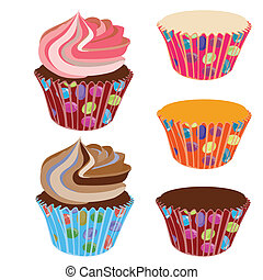 Cupcakes with cupcake cases