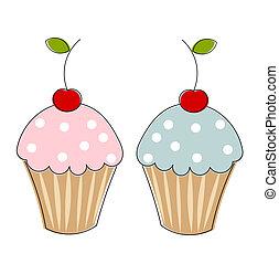 cupcakes, zwei