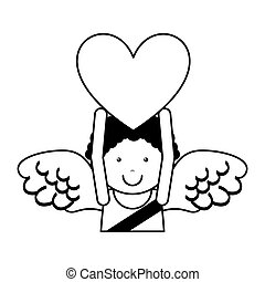 cupid angel character icon