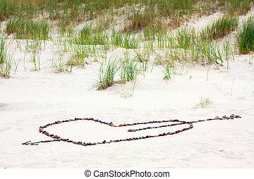 Cupid arrow on the beach