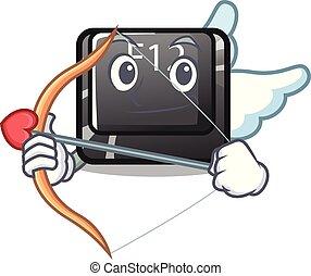 Cupid button f12 on a keyboard mascot