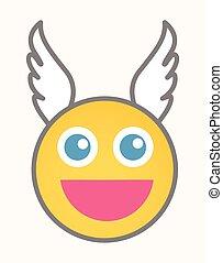 Cupid - Cartoon Smiley Vector Face