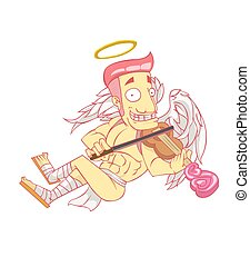 Cupid cartoon vector and illustration. valentine day
