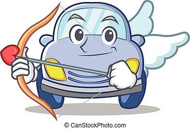Cupid cute car character cartoon