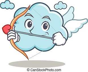 Cupid cute cloud character cartoon
