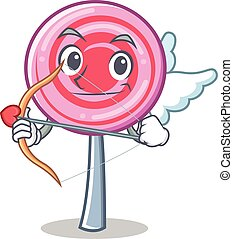 Cupid cute lollipop character cartoon