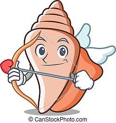 Cupid cute shell character cartoon