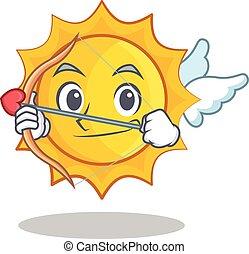 Cupid cute sun character cartoon