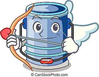 Cupid cylinder bucket Cartoon of for liquid