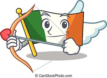 Cupid flag ireland isolated with the cartoon vector ...
