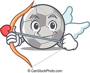 Cupid football character cartoon style