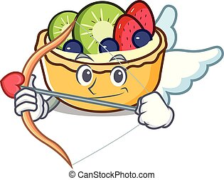 Cupid fruit tart character cartoon