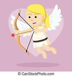 cupid girl illustration design