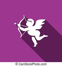 Cupid icon. Vector Illustration