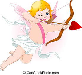 Cupid - Illustration of a Valentine\'s Day cupid ready to...